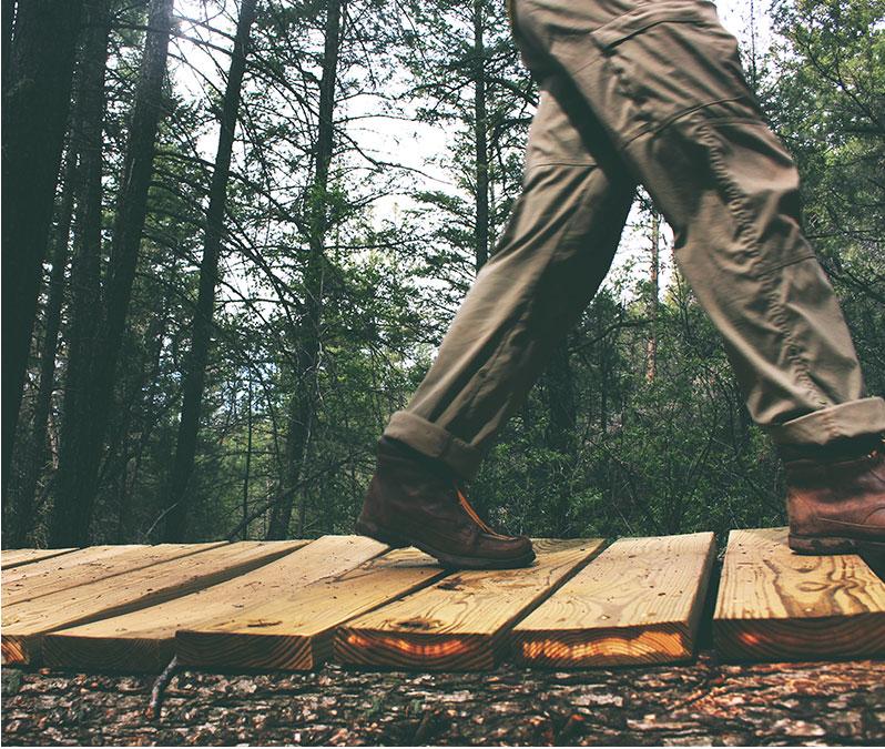 Walking on Wood